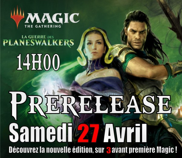 "Illustration of the event Avant-Première Magic ""La Guerre des Planeswalker"" MTGWILGP à 14h00"